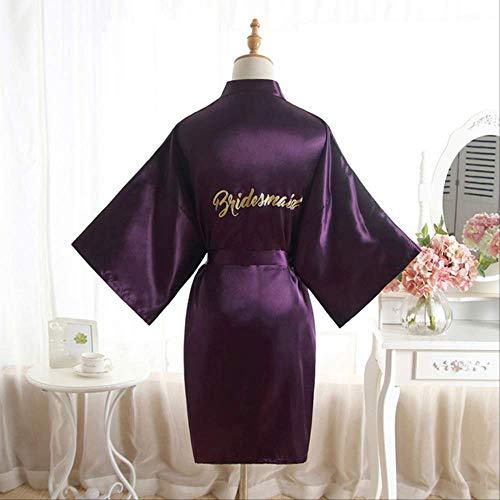 XFLOWR Zomer Zijde Satijn Bruidsmeisje Robe Vrouwen Korte Bruiloft Kimono Robes Maid Of Honor Moeder Van De Bruid Slaapmode Nachtjapon