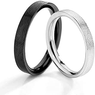 Fayruz Silver Ring for Men Women Comfort Fit Brushed Silver Wedding Band Adjustable Couple Ring