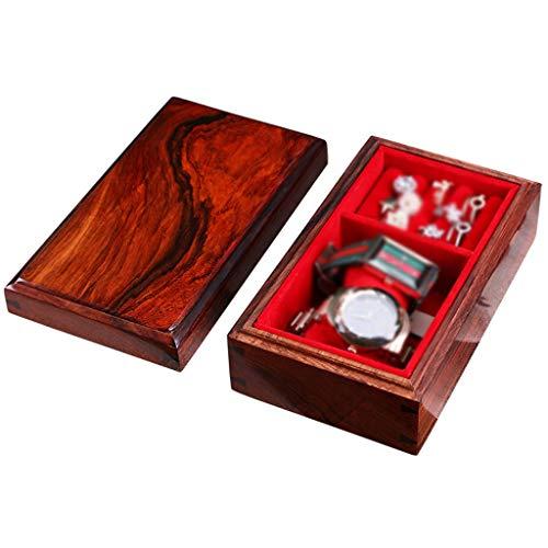 TXOZ -Q Joyero Caja de almacenaje, caja de joyas antigua, joyas hechas a mano, caja de relojes, artesanía de palisandro rojo, decoración de mesa, regalos de mujer, vacaciones, regalos, fiesta de boda.