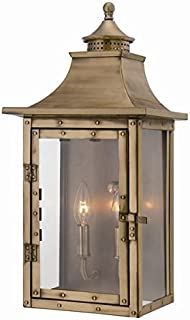 Acclaim 8312AB St. Charles Collection 2-Light Wall Mount Outdoor Light Fixture, Aged Brass