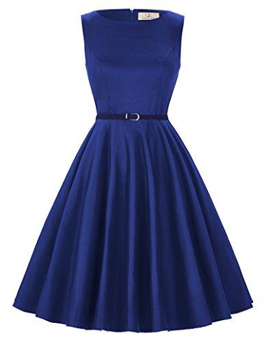 GRACE KARIN Donna Abiti Gonna Eleganti Vestito Anni 50 A-Line Stile Vintage Anni'50 Audrey Hepbun CL6086-54 Dimensioni S