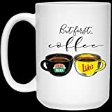 N\A Ma First Coffee Central Perk Luke 's Mug 11oz