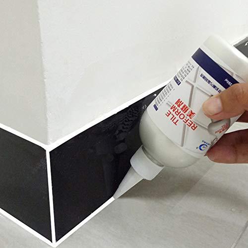 BOLLAER - Reparador de azulejos de lechada, 280 ml, impermeable, para azulejos, reforma, revestimiento de azulejos, limpiador de azulejos, pegamento de reparación