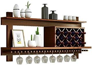 Supports à vin muraux Support de rangement pour bouteilles de vin en bois massif |Outils à vin en pin naturel |Étagères ...
