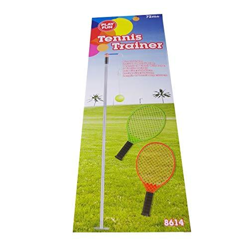Fun Play Playfun Tennis Trainer 2Schläger Stange Ball Tennisspieler Trainingsset Schnur Tennis