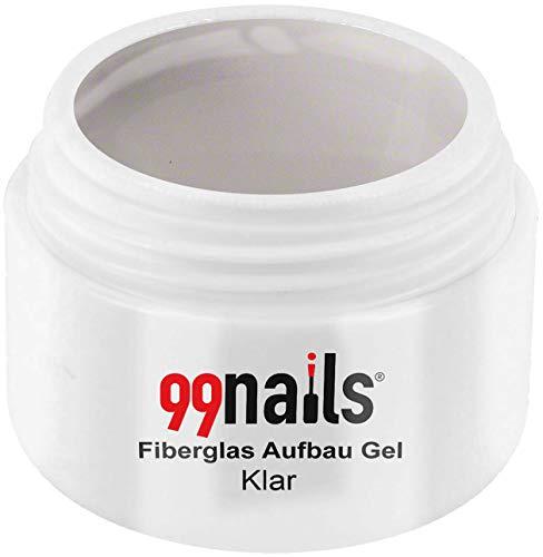 99 Nails fibre de verre structure Gel – Transparent, pack de 1 (1 x 30 ml)
