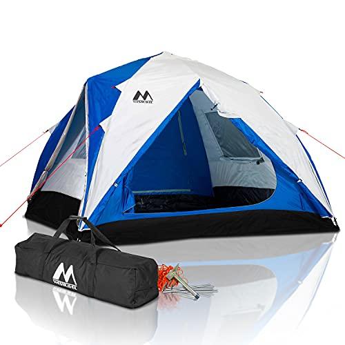Tenda Da Campeggio, tenda 5 posti professionale, Montaggio Istantaneo, Impermeabile e Anti UV 4 stagioni, ultraleggera Borsa porta tenda, Tende per Zaino in Spalla,Picchetti e Martello in dotazione