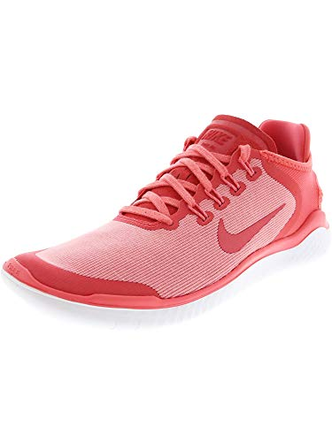Nike Women's Free Rn 2018 Sun Trail Running Shoes, Pink Sea Coral Tropical Rosa Vast Grigio 800, US-0 / Asia Size s