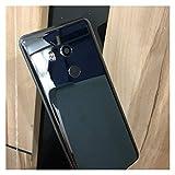 RKRLJX Carcasa de telefono Fit For HTC U11 + U 11+ PULADA PUBLICACIÓN DE LA BATERÍA DE LA BATERÍA REEMPLAZADO Tapa De Cristal Trasero (Color : Black)