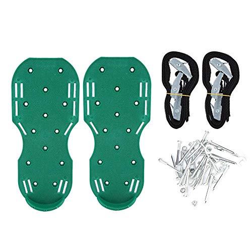 TOPINCN Gazonschoenen verstelbare dragers tuin erf gazonbeluchter schoenen grasplot ventilatie spike sandalen (groen) MEERWEG verpakking
