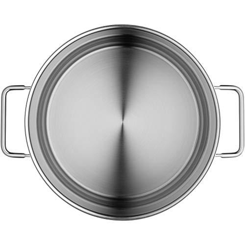 WMF Nudeltopf Ø 24 cm ca. 7l Schüttrand Glasdeckel Cromargan Edelstahl - 11