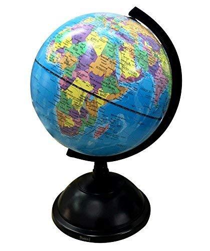 Exerz Educational Swivel Globe (Medium Dia 8'/20cm) - Political Desktop World Globe by Exerz Limited
