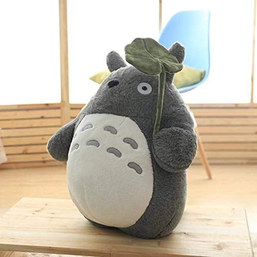 YIWOYI Stuffed Animals Totoro Plush Toy Cute Plush Cat Doll Plush Totoro with Lotus Leaf Kids Toys Birthday (hold Lotus leaf,30CM)