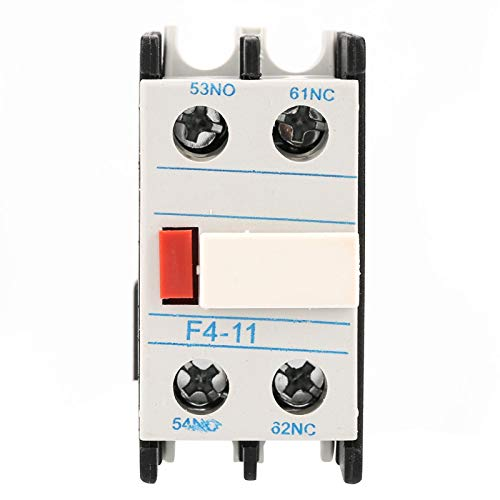 Contatto Ausiliario 3 Poli Normalmente Aperto Contattore Ausiliario 1NA/1NC – Carico Motore 32A Carico Illuminazione 50A | Bobina IEC 660V, 110-120VAC con base di montaggio per guida DIN