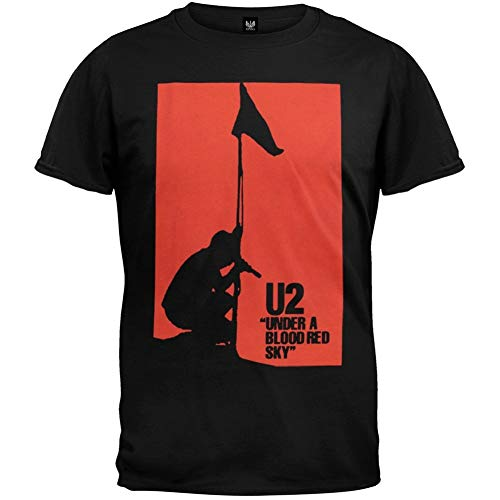 U2 Mens Red Sky Soft T Shirt,Camisetas y Tops(X-Large)