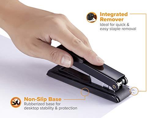Bostitch Office B8RCFC B8 PowerCrown Flat Clinch Premium Stapler, 40-Sheet Capacity, Black Photo #7