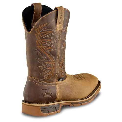 "Irish Setter Work Men's 83912 Marshall 11"" Pull-On Steel Toe Waterproof Work Boot,Brown (medium and light brown),15 D US"