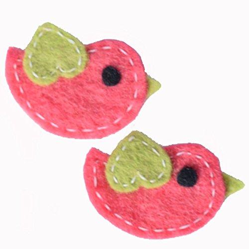 Handmade Felt Accessories Animals x 2 (1) (Pink Bird)