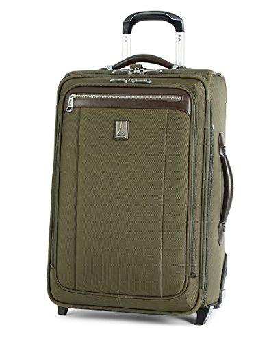Travelpro Platinum Magna 2-Softside Expandable Upright Luggage, Olive, Carry-On 22-Inch