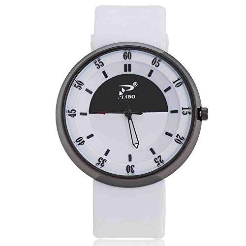 OLUYNG Armbanduhr Modetrend Mehrfarbensport Minimalist Kreatives Konzept Persönlichkeit wasserdichte Quarzuhr Paar Sandkasten Weiß