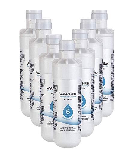 LNLJ 6 Mes / 200 Galones De Capacidad De Reemplazo del Filtro De Agua del Refrigerador, Reemplazable Fit Kit para LT1000P, LT1000PC, MDJ64844601, ADQ747935 ADQ74793504, Kenmore 469980,7pcs