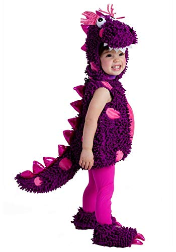 Disfraz de dinosaurio púrpura para niñas