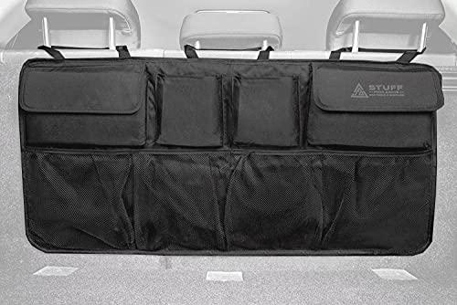 stuff from above Auto Organizer für den Kofferraum - Perfekter Halt durch starken Klett an Rückseite - [84x46cm] - Kofferraum Tasche für Zubehör - Aufbewahrungstasche für kfz - Aufbewahrung - car