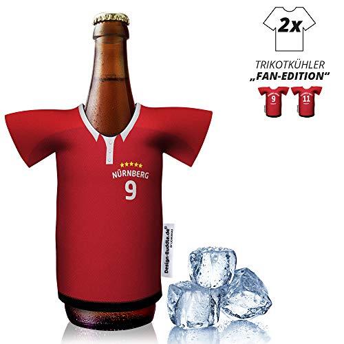 vereins-Trikot-kühler Home für FC Nürnberg-Fans | 2er Fan-Edition| 2X Trikots | Fußball Fanartikel Jersey Bierkühler by Ligakakao