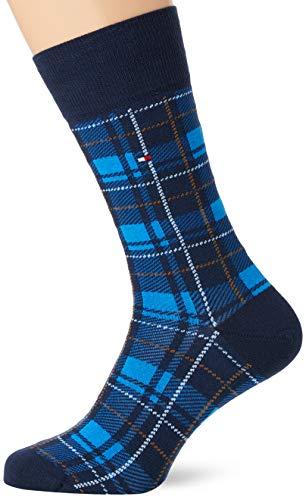 Tommy Hilfiger Th Men Sock 2p Tartan calcetines, ilusión azul, 39/42 (Pack de 2) para Hombre