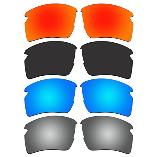 ACOMPATIBLE 4 Pair Replacement Polarized Lenses for Oakley Flak 2.0 XL Sunglasses OO9188 Pack P7