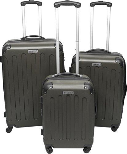 3er Hartschalen ABS Hochglanz Koffer Set in verschiedenen Motiven und Ausführungen Farbe Foliage