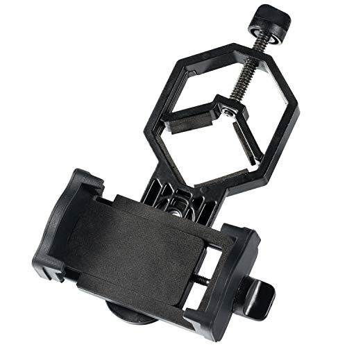 LAKWAR Cell Phone Mount for Scope 360°Rotatable Universal Cell Phone Photo Adapter Mount Work with Binoculars, Microscope,Spotting Scope, and Astronomical Telescope, for iPhone, Samsung, LG, Sony Etc