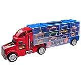 Autotransporter-Spielzeug für Jungen und Mädchen TG664 – Cooler Spielzeug-LKW mit 12 Autos und verschiedenem Zubehör von ThinkGizmos (markengeschützt) -