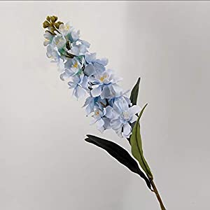 Artificial and Dried Flower Autumn Silk Hyacinth Artificial Flowers Violet Wedding Simulation Flower Branch Delphinium Home Decoration Fake Gladiolus