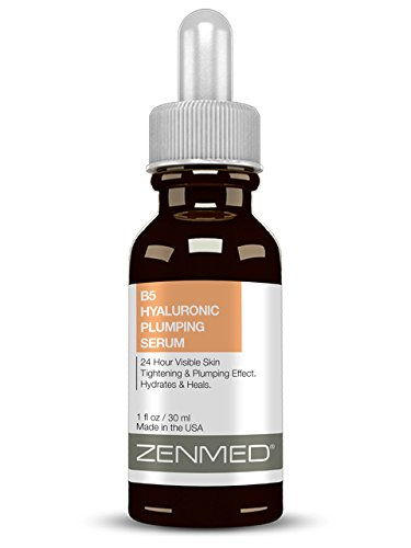 ZENMED B5 Hyaluronic Plumping Serum - 1 oz. 24 Hour Visible Skin Tightening & Plumping Bumps Up Collagen Hydrates & Heals Mature Damaged & Dehydrated Skin