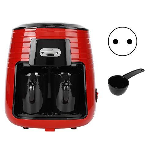 Haofy Cafetera de Goteo, 0.25L Máquina de café automática Completa Cafetera de Goteo de Doble Taza Americana Fabricación de té(EU)