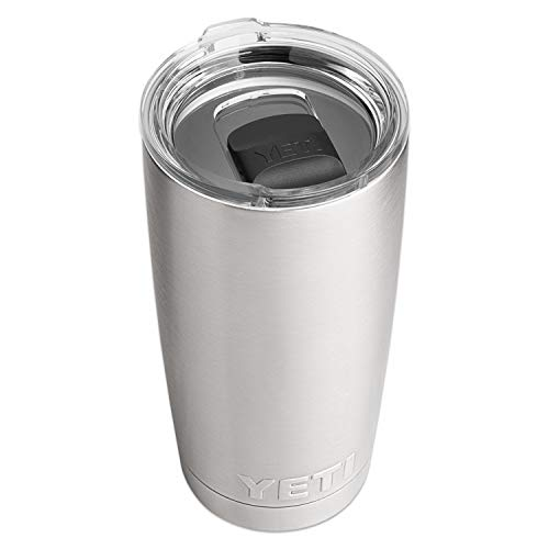 YETI Rambler 20 oz Stainless Steel Vacuum Insulated Tumbler w/MagSlider Lid, Stainless
