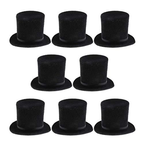 ZSMD 8 stuks 1/6 scale cilinder hoed cilinderhoed dress up party kleding voor mannen 12 ''Action figuren