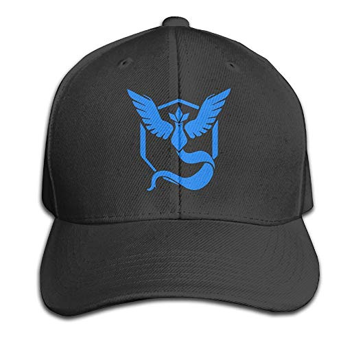 Unisex Pokemon Go Team Mystic Articuno Peaked Baseball Cap Hats Black,Sombreros y Gorras