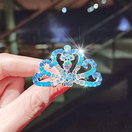 LANHUAN Dulces Chicas Diamante Crown Crown Pein Combs Brillante Conejo Gato Cabello Insertar Horquillas Princesa Rhinestone Accesorios (Color : 30)