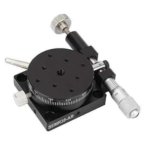 Mootea R38 - Mesa giratoria manual, plataforma giratoria, rodamiento de precisión, 38 mm x 20 mm