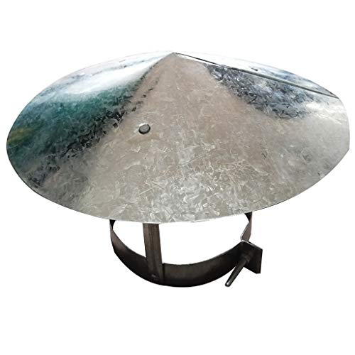 Buy Discount LXLTL Chimney Cap,White Iron Chimney Cowl Roof Hood Chimney Diameter, Ducting, Ventilat...