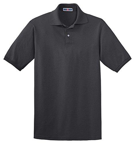 Jerzees 50/50 Men's 5.6 oz. Jersey Polo with Spotshield (Charcoal Grey, Medium)