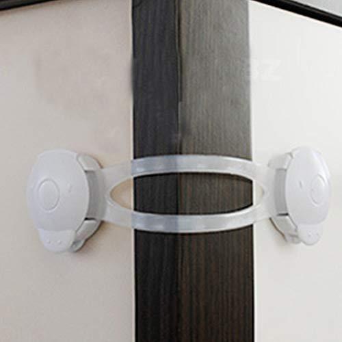 Lade deurkast Kast Veiligheidssloten Baby Kid Safety Care Babybescherming Wit