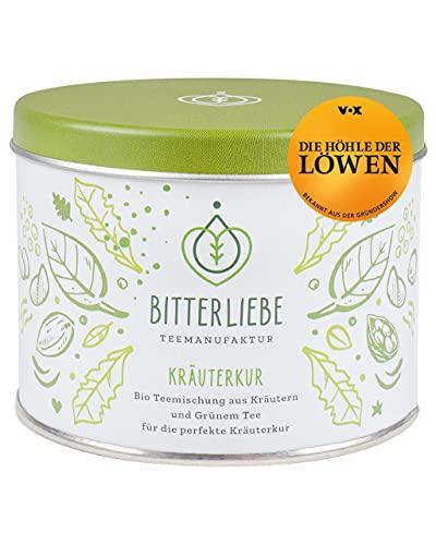 BitterLiebe® Teemanufaktur Kräuterkur Bio Kräutertee lose 50g mit der Kraft der Bitterstoffe I Bitterkräuter, Grüner Tee, Hagebutte uvm. I ca. 35 Tassen (50g)