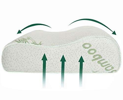 Ecosafeter New Premium Cervical Contour Memory Foam Pillow- Standard Neck...