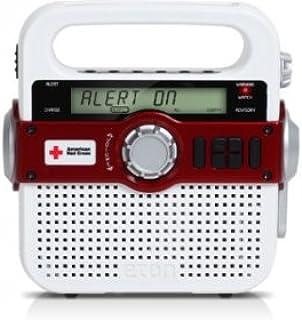 Eton Solarlink Radio de Emergencia con Alerta de NOAA y Carga de teléfono Celular del USB, Blanco, Una Talla