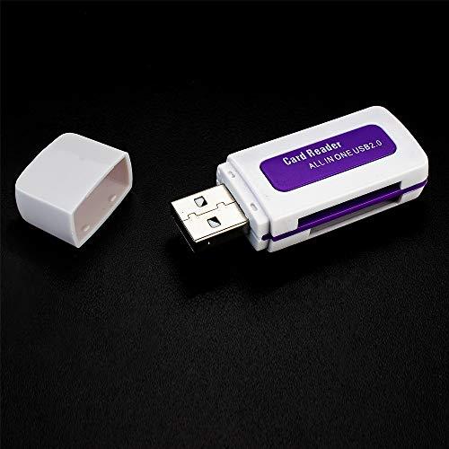 maxxcount.de USB 2.0 Dual-Cardreader/Kartenlesegerät für USB Micro SD- / SDHC & SD- / SDHC-Kartenleser mit Zwei Schächten (unterstützt Windows Vista, XP, Windows 7 und Apple Mac OS) - Farbe: weiß