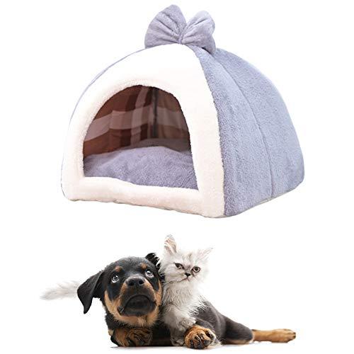 MEISISLEY Hundehaus Für Drinnen Hundebetten Warmes Hundebett Luxus Hundebett Plüsch Hundebett Flauschiges Katzenbett Haustierbetten Für Katzen Hund Schlafsofa Gray,M