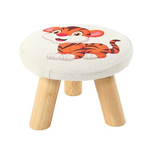 CKH kleine krukken, krukken, schoenen, krukken, massief hout, stof, creativiteit, kleine kinderstoelen, krukken, krukken, kleine tijger ontwerpen.